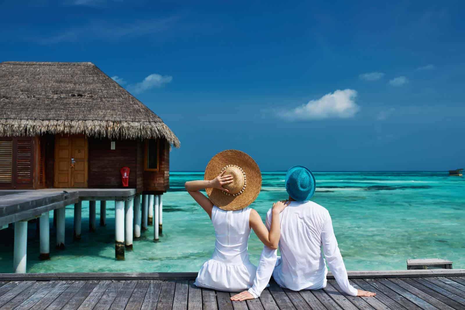 Resort de luxo nas Maldivas