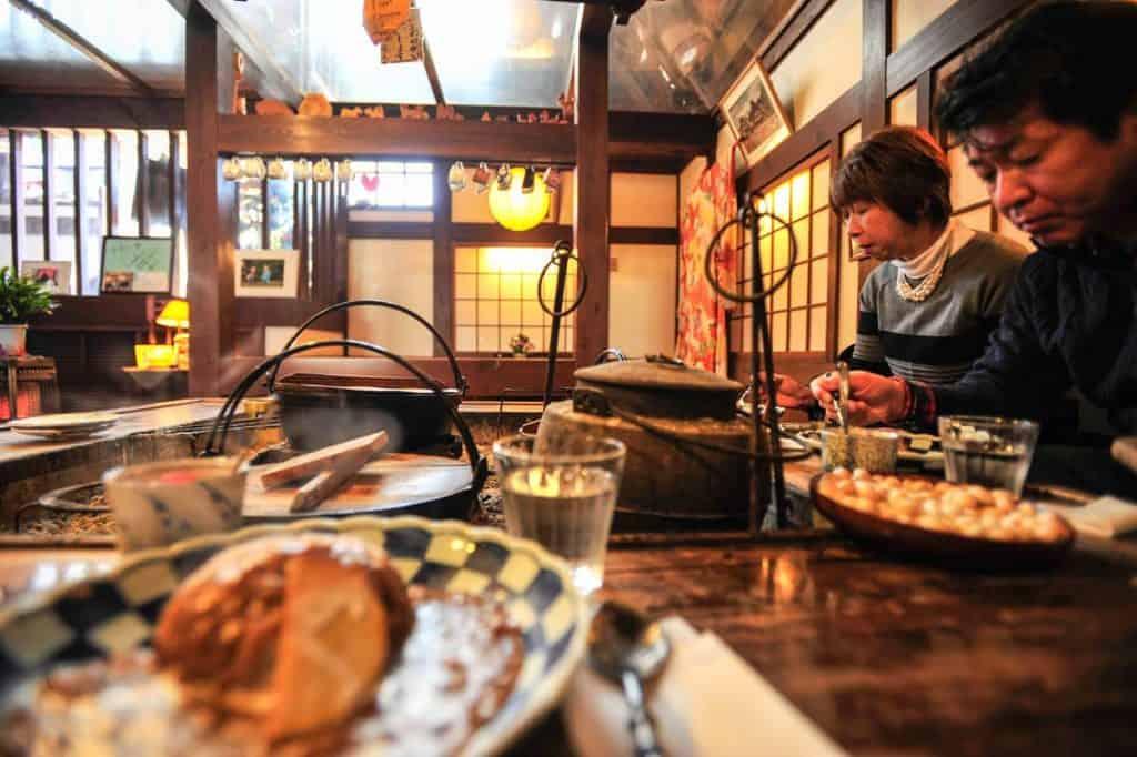 Restaurante Ochudo, em Ogimachi