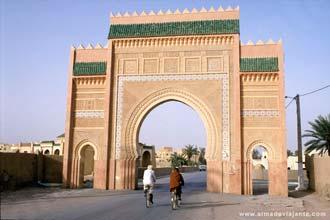 Portas da cidade de Rissani, Marrocos