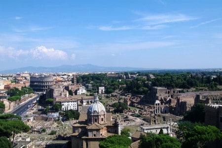 A cidade de Roma vvista do terraço Vittoriano
