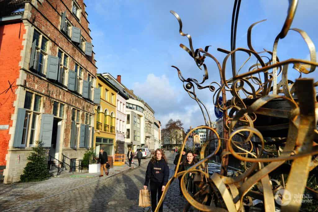 Roteiro de viagem a Ghent: rio Leie