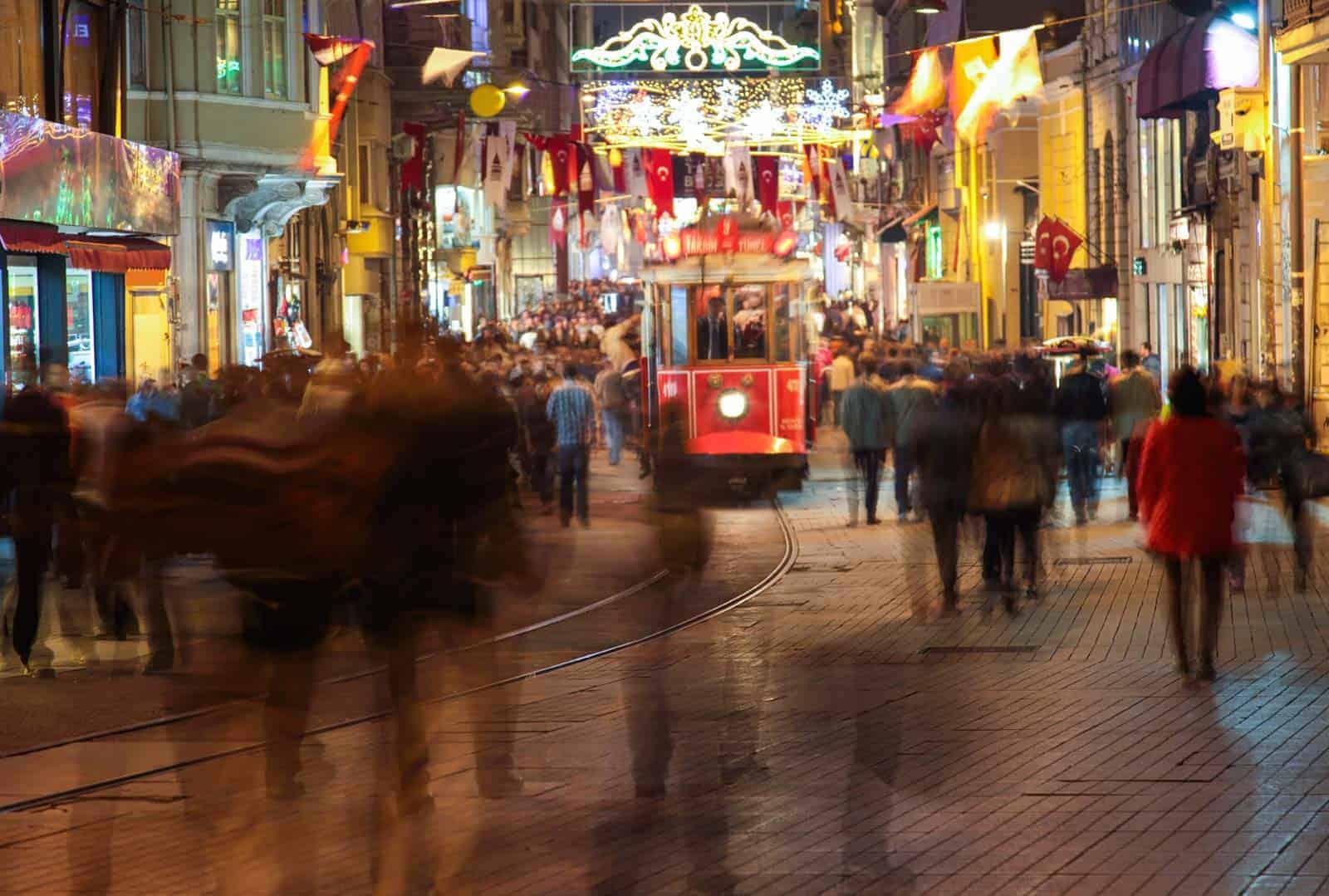 Rua Istiklal, Istambul