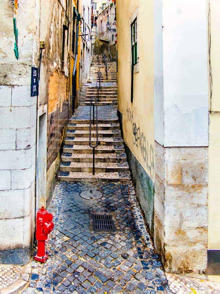 Rua de Alfama, Lisabon