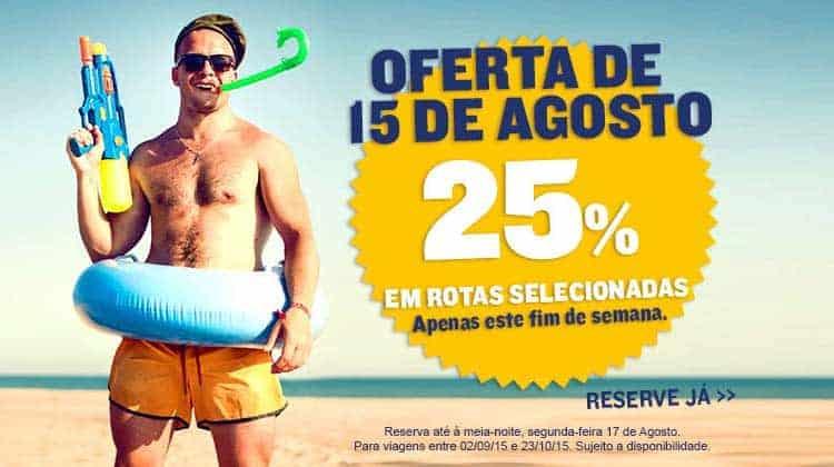 Ryanair promoção de voos