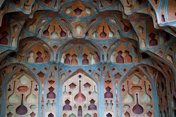 Sala de Música do palácio Ali Qapu, em Esfahan