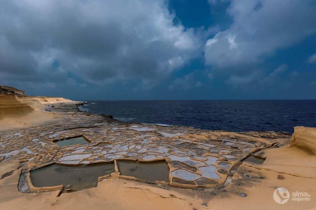 O que visitar em Gozo: Salinas Marsalforn