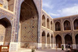 Mesquita na praça de Registan, Samarcanda
