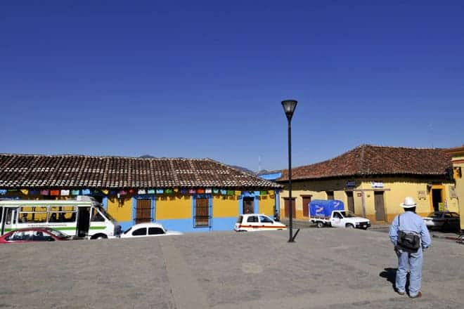 O amarelo domina em San Cristobal de las Casas