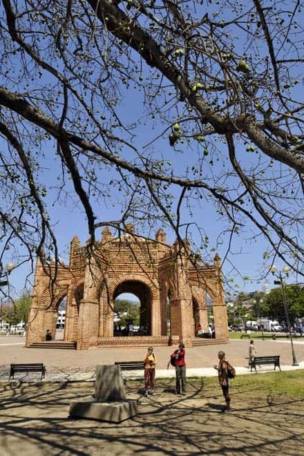 Praça central de Chiapas de Corzo, localidade próxima de San Cristobal de las Casas