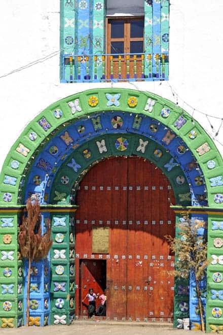 Fachada da igreja, San Juan Chamula