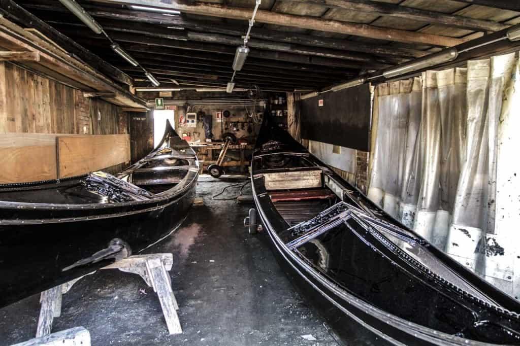 Reparação de gôndolas, San Trovaso, Veneza