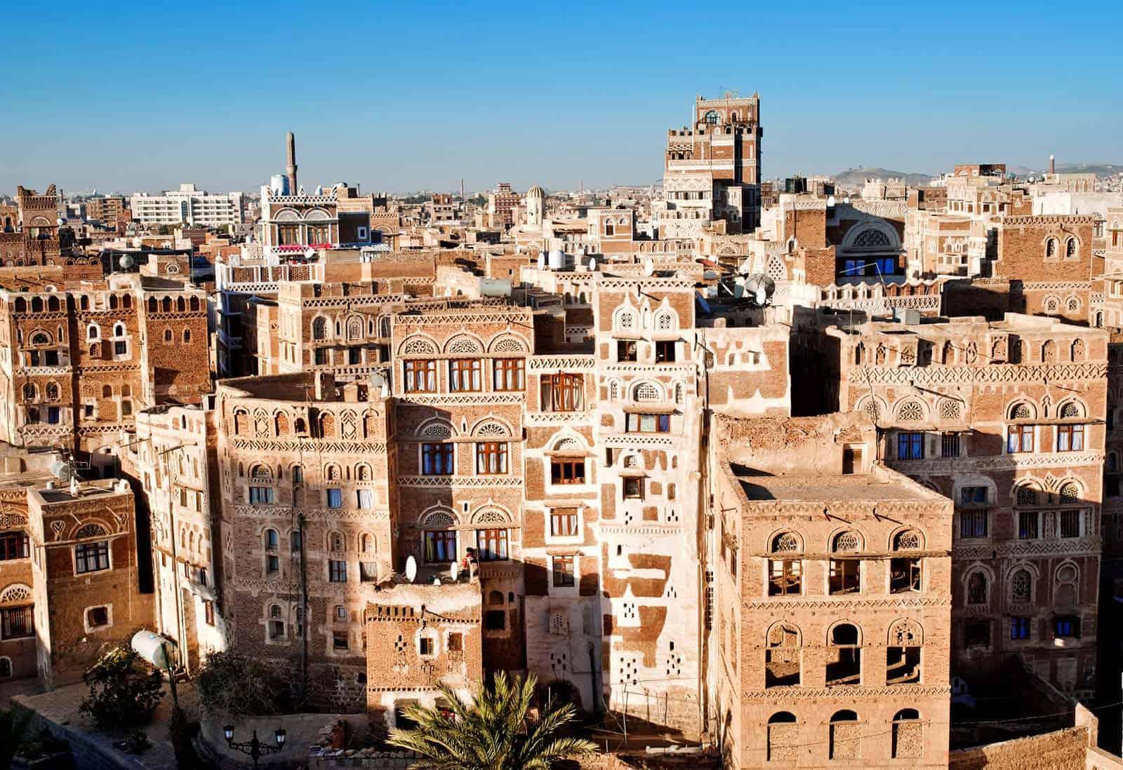 Arquitetura tradicional em Sanaa, Iémen
