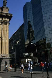 Götum Santiago, höfuðborg Chile