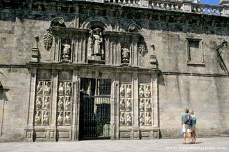 A Porta Santa da Catedral de Santiago de Compostela, Espanha