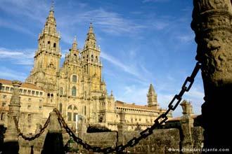 Fachada da Catedral de Santiago de Compostela, Espanha
