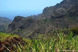 Vista do vale do Paul, ilha de Santo Antão, Cabo Verde