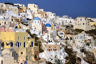 Ilha Santoríni, uma das mais turísticas ilhas gregas das Cíclades