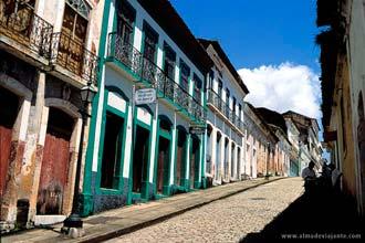Ladeira no centro histórico de São Luís do Maranhão