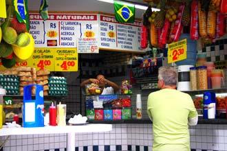 Boteco numa rua de São Paulo