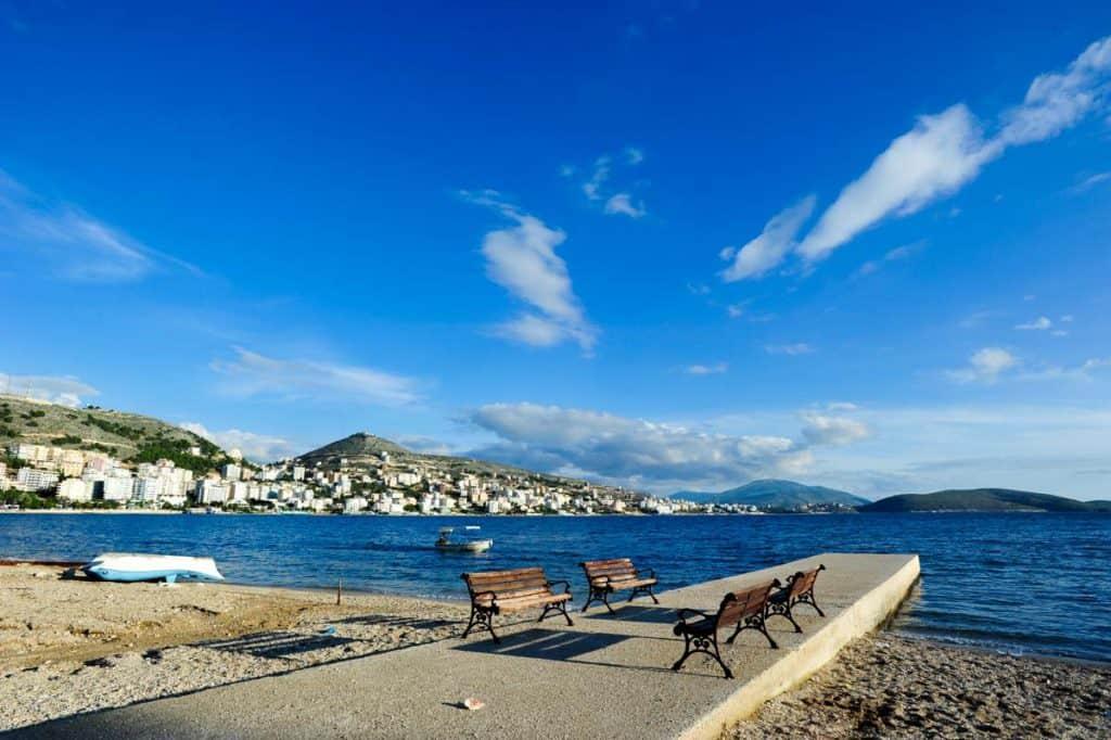 Praia de Saranda, sul da Albânia