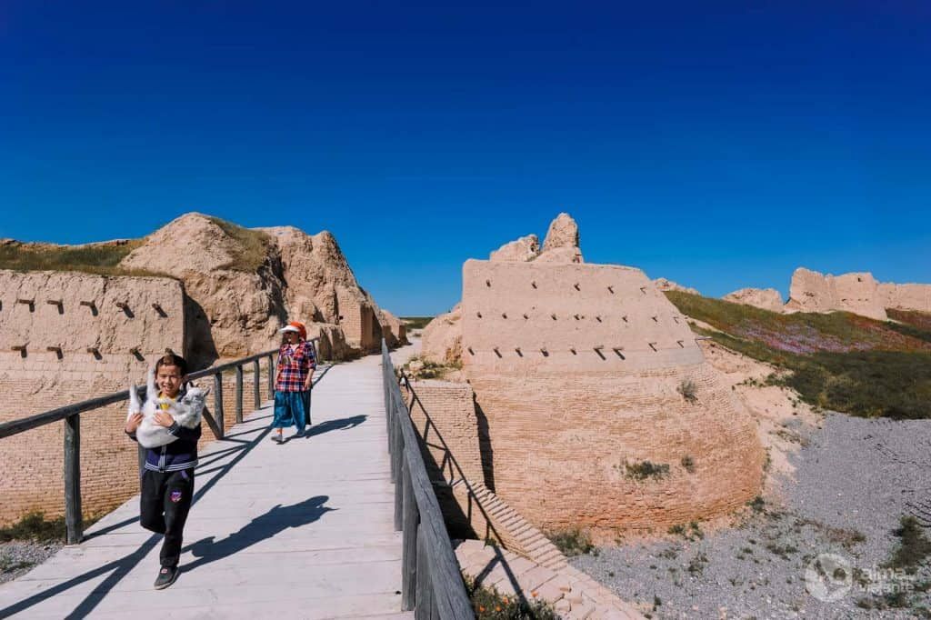 En visite à Sauran, Kazakhstan