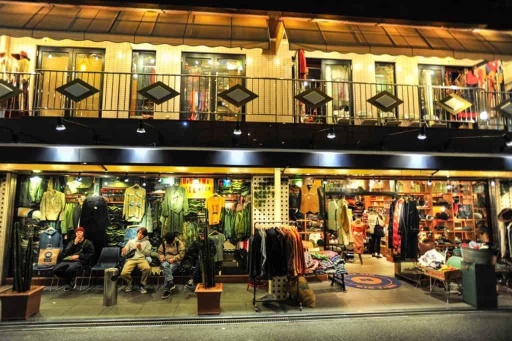 Loja vintage em Shimokitazawa