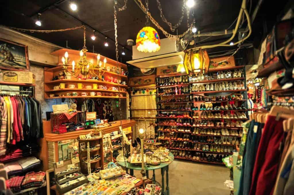 Naudota drabužių parduotuvė Shimokitazawoje