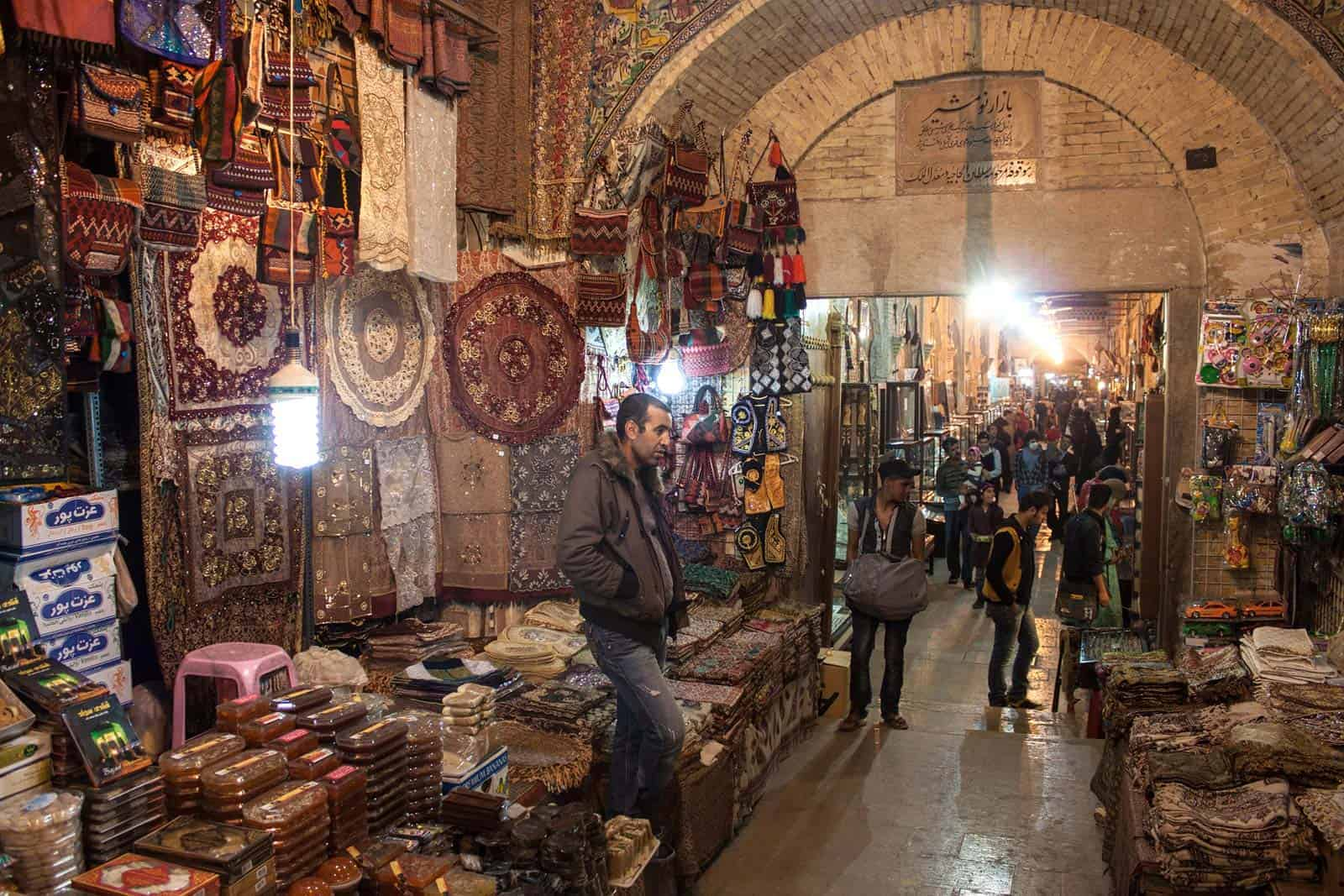 Bazar de Shiraz, Irão