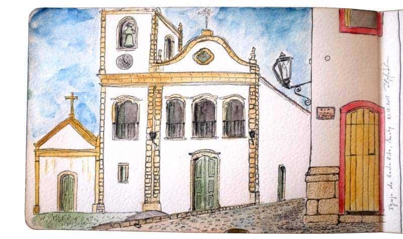 Desenho da Igreja de Santa Rita, Paraty