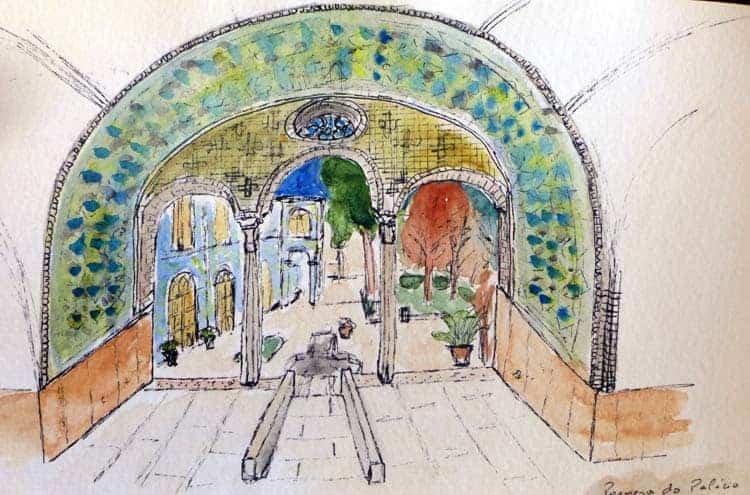 Schets op Golestan Palace, Teheran