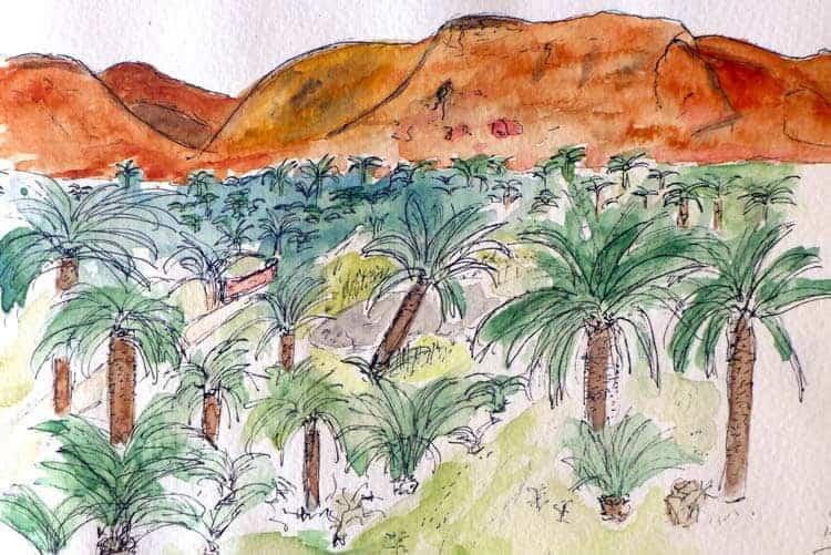 Schets in Garmeh oasis