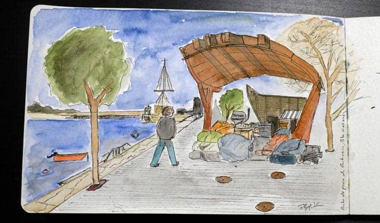 Sketch do porto de pesca da Cantareira, Porto