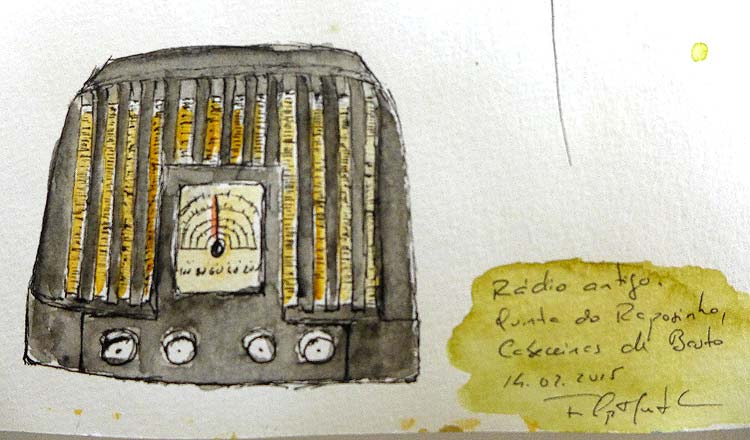Sketch de um rádio antigo