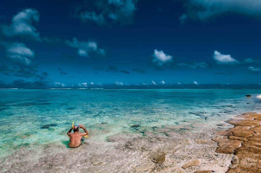 snorkelling em Rarotonga
