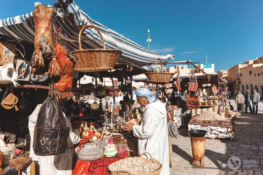 O que visitar em Ghardaia: souk
