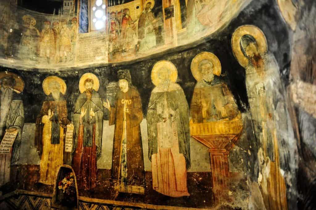 Frescos Mosteiro St. Naun