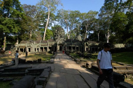 a Prohm, um dos mais surpreendentes templos de Angkor