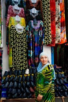 Bazar Barakat em Dushanbe, capital do Tajiquistão