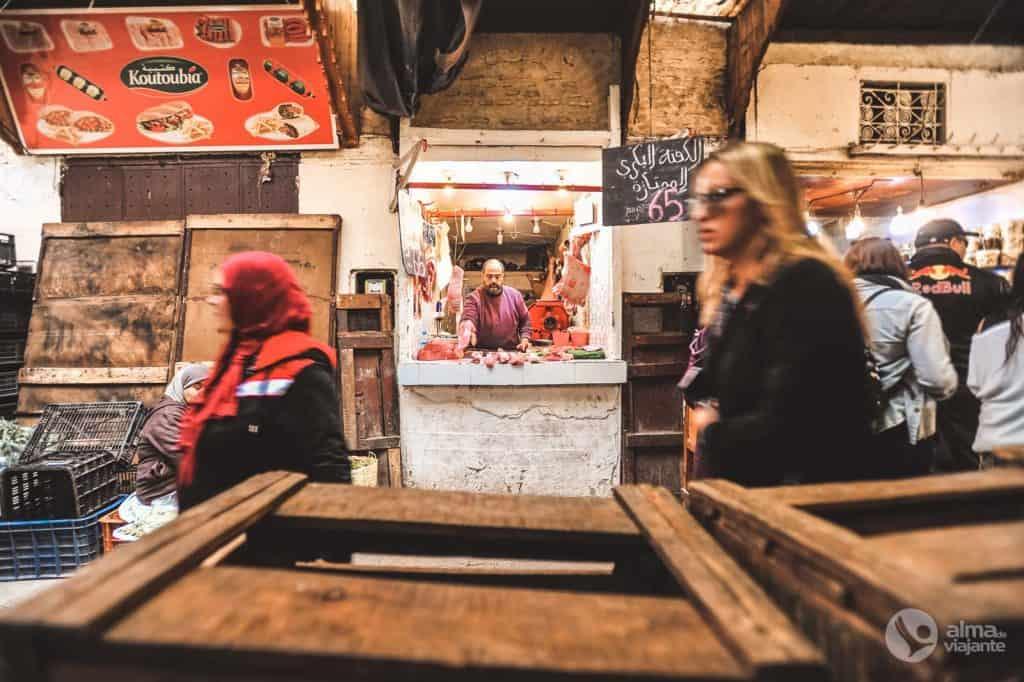 Butchery in the medina of Fez