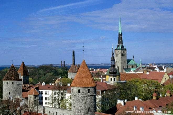 Miðja Tallinn, höfuðborg Eistlands