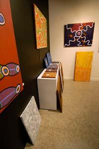 Loja de arte aborígene em Hobart, Tasmânia