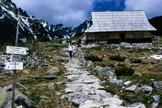 Refúgio no percurso dos Cinco Lagos, Montes Tatra