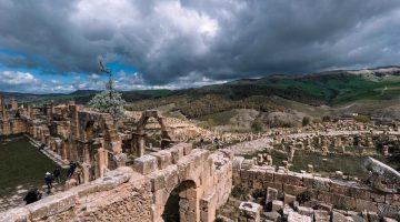 As ruínas romanas de Djémila