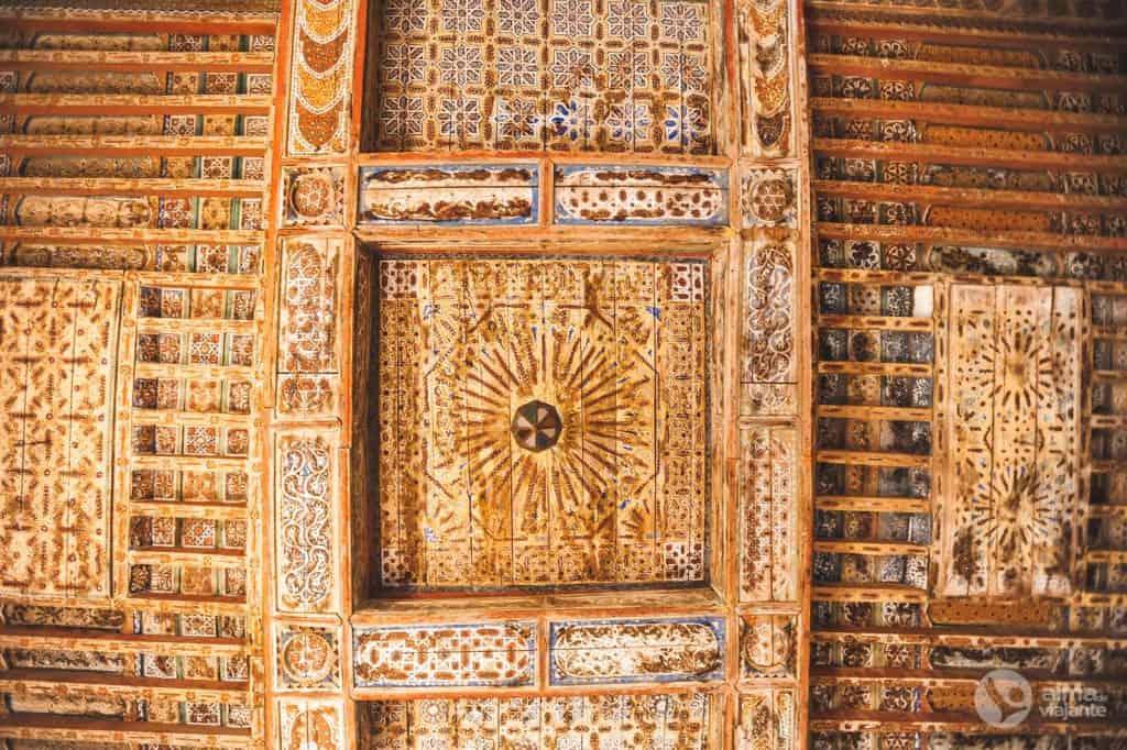 Teto de madeira do Kasbah Taourirt
