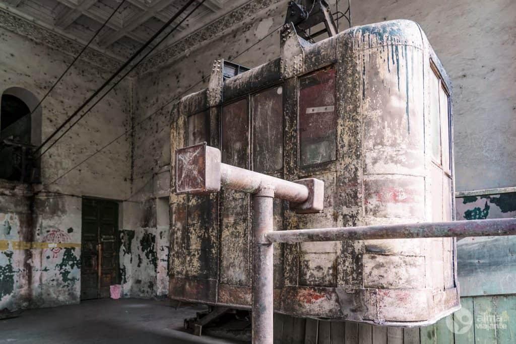 Cabine do teleférico de Chiatura