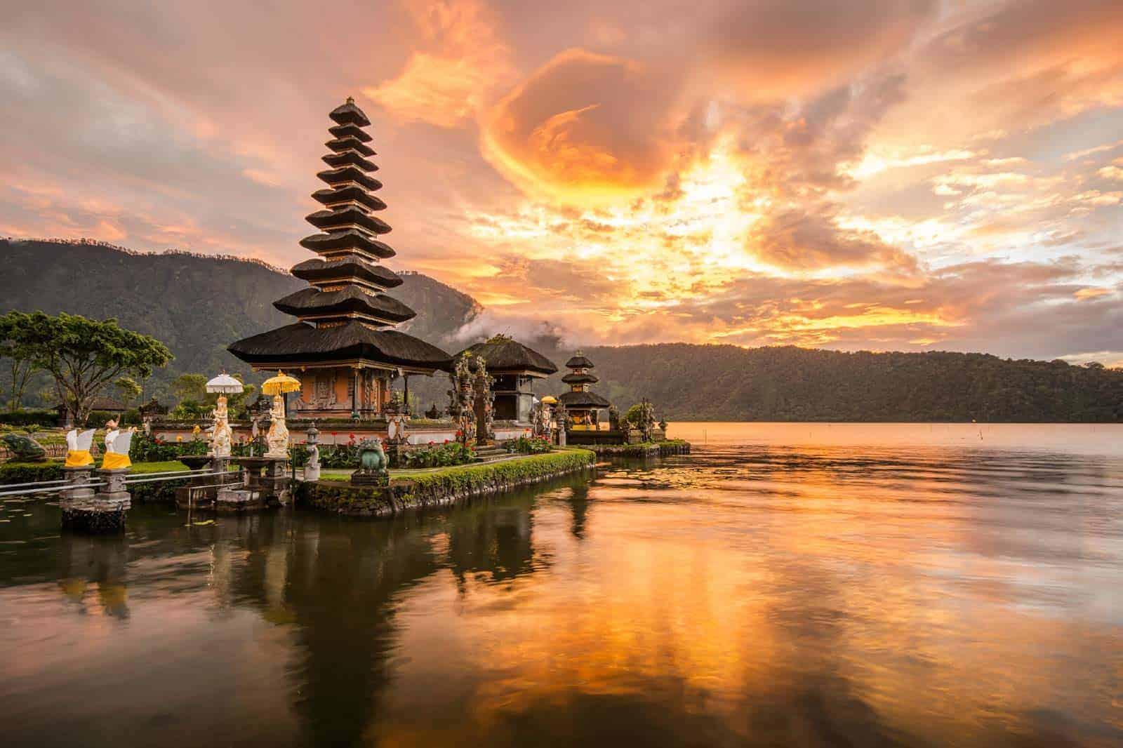 Temple í Bali, Indónesíu