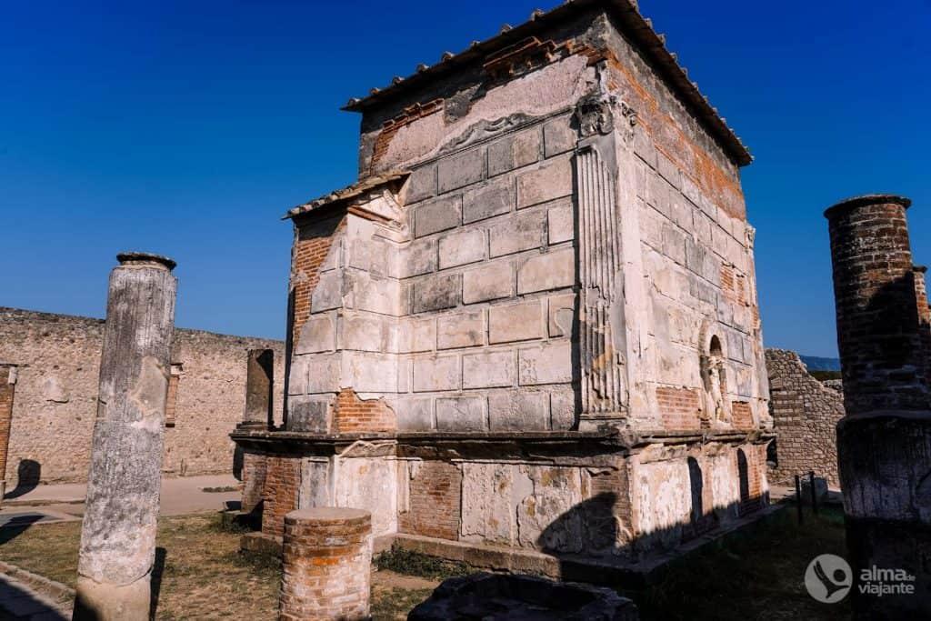 O que ver em Pompeia: Templo de Ísis