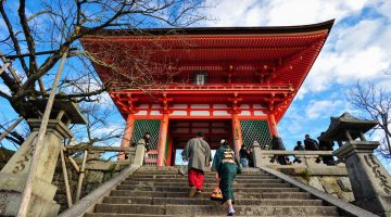 Script Japānā: Kiyomizu Dera templis, Kioto