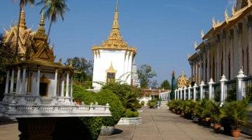 Temple í Siem Reap, Kambódíu