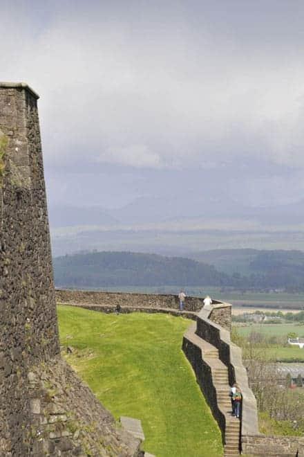 Vista a partir do castelo de Stirling